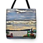 Sunset At Coastal Kayak Tote Bag
