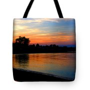 Sunset At Colonial Beach Cove Tote Bag