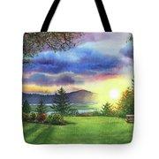 Sunset At Columbia River State Of Washington Tote Bag