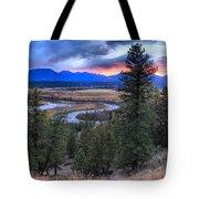 Sunset At Columbia Wetlands Tote Bag