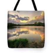 Sunset At Community Lake #8 Tote Bag