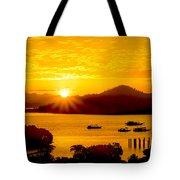 Sunset At Coron Bay Tote Bag