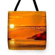 Sunset At Deception Pass Bridge Tote Bag