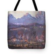 Sunset At Dolomites Belluno Tote Bag