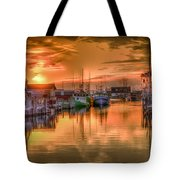 Sunset At Fisherman's Cove Tote Bag