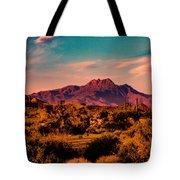 Sunset At Four Peaks Tote Bag