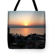 Sunset At Galilee Tote Bag
