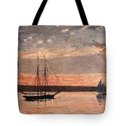 Sunset At Gloucester Tote Bag