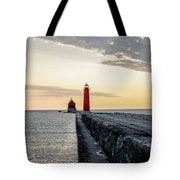 Sunset At Grand Haven Tote Bag