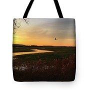 Sunset At Holkham Today  #landscape Tote Bag
