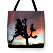 Sunset At Joshua Tree Tote Bag