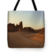 Sunset At Kaluts Desert Tote Bag