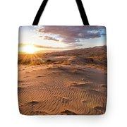 Sunset At Kelso Dunes Tote Bag