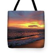 Sunset At Lahaina On Maui, Hawaii Tote Bag