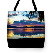 Agency Lake Sunset, Oregon Tote Bag