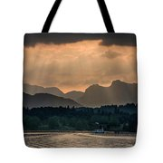 Sunset At Lake District Tote Bag