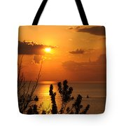 Sunset At Lake Huron Tote Bag
