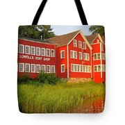 Sunset At Lowell's Boat Shop Tote Bag