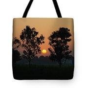 Sunset At Lumbini Tote Bag