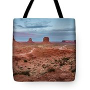 Sunset At Monument Valley No.2 Tote Bag
