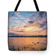 Sunset At Morse Lake Tote Bag