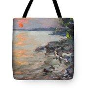 Sunset At Niagara River Tote Bag