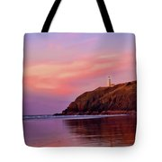 Sunset At North Head Lighthouse Tote Bag