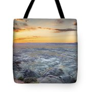 Sunset At Painted Desert Tote Bag
