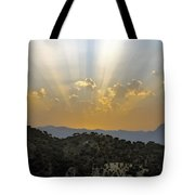 Sunset At Pastelero Near Villanueva De La Concepcion Andalucia Spain Tote Bag