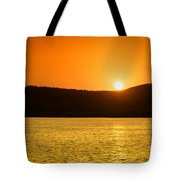 Sunset At Pichola Lake Tote Bag by Yew Kwang