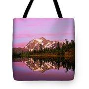 Sunset At Picture Lake Tote Bag
