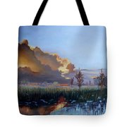 Sunset At Pine Glades Tote Bag