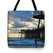 Sunset At Pismo Pier Tote Bag