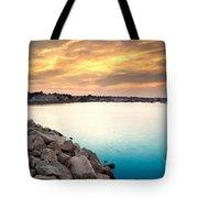 Sunset At Plymouth Harbor Tote Bag