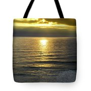 Sunset At Praia Pequena, Small Beach In Sintra Portugal Tote Bag