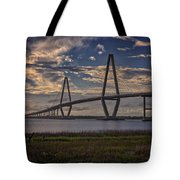Sunset At Ravenel Bridge Tote Bag