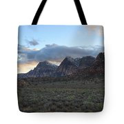 Sunset At Red Rock Canyon Tote Bag