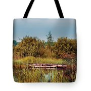 Sunset At River In Old Dutch Village Tote Bag