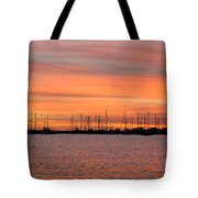 Sunset At Rock Hall, Md Tote Bag