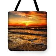 Sunset At Saint Petersburg Beach Tote Bag