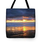 Sunset At Salt Creek Tote Bag