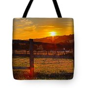Sunset At Scartaglen Ireland Tote Bag
