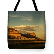 Sunset At Scotts Bluff National Monument Tote Bag