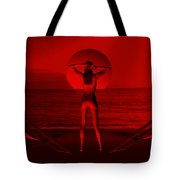 Sunset At Sea Tote Bag