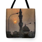 Sunset At Seeb Tote Bag