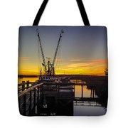 Sunset At Skippers Fish Camp Tote Bag