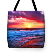 Sunset At Strands Beach Tote Bag