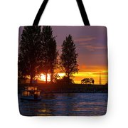 Sunset At Sunset Beach In Vancouver Bc Tote Bag