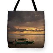 Sunset At Tabuena Beach 1 Tote Bag