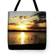 Sunset At The Bath House Tote Bag